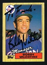 Bobby Valentine #118 signed autograph auto 1987 Topps Baseball Trading Card