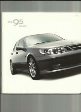 SAAB 95 LINEAR, ARC, VECTOR AND AERO SALOON SALES BROCHURE  2002