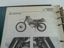 1979-1980 HONDA XR250 MOTORCYCLE FACTORY SERVICE MANUAL WITH BINDER