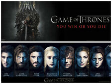 Game of Thrones Characters Win or Die 2 Individual Posters Tyrion Danenerys Robb