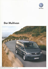 VW Multivan Prospekt 2008 5/08 Autoprospekt brochure brosjyre opuscolo Katalog