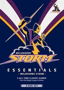 NRL - Essentials - Melbourne Storm - brand new 3dvd set - free post!