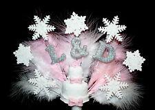 Christmas, Wedding, Engagment Cake, Initials, Snowflake Cake Topper Personalised