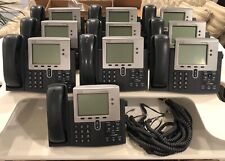 Cisco IP Phone Cisco 7941 CP-7941G with Stand & Handset POE Lot of 10