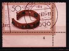 "BRD MiNr 1333 Eckrand rechts unten R 5 FN 4 ""Wohlfahrt 1987"": Goldschmiedekunst"