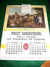 Vintage 1946 Wine Winery Advertising Wall Calendar NOS 6 Large Lithos Americana