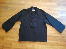 Pinnacle Chef Coat Black Double Breasted Button Up Sz L Missing 1 Button