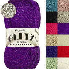 King Cole Glitz Chunky Knitting Yarn with Glitter Metallic Thread