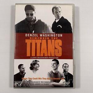 Remember The Titans (DVD 2002) Denzel Washington Region 4
