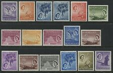 Seychelles QEII 1st definitive set to 2.25 rupees mint o.g. Missing 25 cents