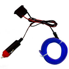 2M 12V EL Wire BLUE Cold light lamp Neon Lamp Car Atmosphere Lights Unique Decor
