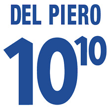Italy Del Piero Nameset 2000 Shirt Soccer Number Letter Heat Print Football A