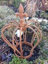 Nostalgie Pflanzkrone auf Löwenfüßchen Übertopf Kerzenhalter Gartendeko H32 cm