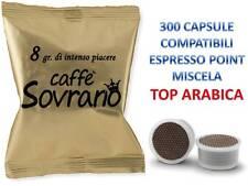 300 CIALDE CAPSULE CAFFE SOVRANO TOP ARABICO COMPATIBILE LAVAZZA ESPRESSO POINT