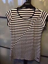Waist Length Viscose Unbranded Striped T-Shirts for Women