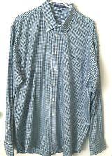 Alan Flusser Mens Dress Shirt Blue Long Sleeve Button Down Size XXLarge