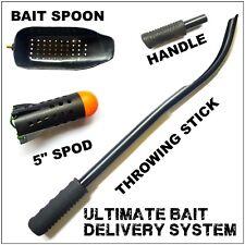 SPOD KIT BAITING SPOON THROWING STICK SPOD BAIT DELIVERY SYSTEM CARP FISHING KIT