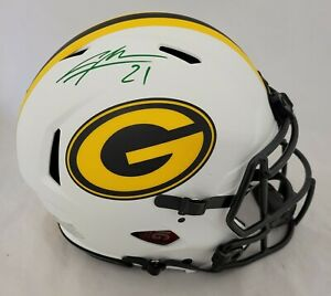CHARLES WOODSON SIGNED PACKERS LUNAR ECLIPSE SPEED AUTHENTIC HELMET FANATICS COA