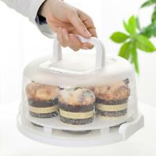 Portable Plastic Round Cupcake Container Cake Dessert Storage Box Kitchen Supply