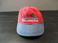 VINTAGE Daytona 500 Hat Cap Red Blue Snap Back Nascar Racing Winston 90s *