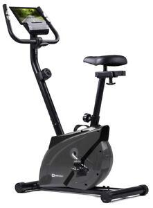 Heimtrainer Onyx von Hop-Sport Ergometer Fitnessgerät Fitnessbike grau