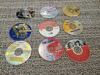LOT OF 9 Vintage 1990-2000s PC CD-ROM Games, Music, and others USED