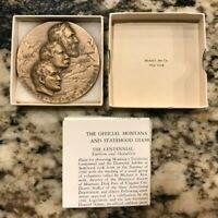 1964 Montana Territorial Centennial Statehood Diamond Jubilee Bronze Medallion