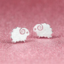 1Pair Fashion Lovely Lady 925 Sterling Silver Rhinestone Crown Ear Stud Earrings