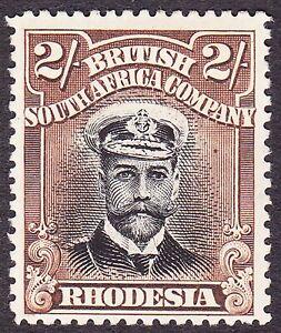 Rhodesia 1913 DIE 1 PERF 15  2/- WITH HEAD&FRAMEPLATE VARIETY SG 218 VF MLH OG-