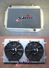 Aluminum Radiator +Shroud+Fans for Holden HG HT HK HQ HJ HX HZ V8 Chev engine MT
