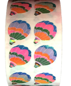 """400  Hot Air Balloon stickers in roll of 100 modules 2""""x2"""",ea. sticker 1"""" RM6207"""