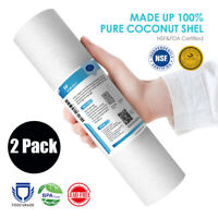 """2x 5 Micron 10"""" x 2.5"""" Sediment Water Filter Cartridge Replacement Fit RO System"""