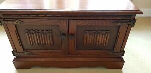 Old Charm Tudor Brown Oak TV Cabinet.