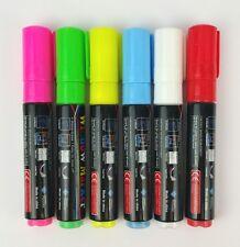 6 Stifte 8 mm LED Schreibtafel Writing Board Marker Licht Tafel Werbetafel Neon