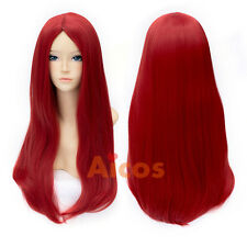 The Nightmare Before Christmas Sally Red Straight Halloween Anime Cosplay Wigs
