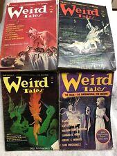 1973 4 Vol WEIRD TALES Science Fiction Sci-Fi Pulp Magazine LOVECRAFT BRADBURY