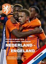 2018 FRIENDLY NETHERLANDS HOLLAND v ENGLAND A5 PROGRAMME