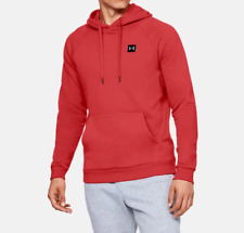Under Armour Men's Rival Fleece Pullover Hoodie NEW AUTHENTIC Red 1320736-646