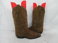 Vittorio Ricci Studio Brown Suede Leather Cowboy Western Boots Size 7 M