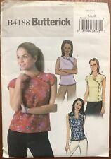 Butterick Pattern B4188 Misses' & Misses' Petitie EASY Tops Sz 6-10 Uncut