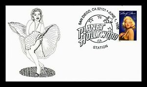 Marilyn Monroe USA COVER 1995 - PLANET HOLLYWOOD pictorial cancel : unaddressed