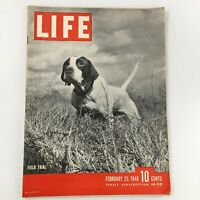 VTG Life Magazine February 25 1946 Field Trial, Mary Robert Feature Newsstand
