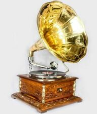 Vintage 1880 HMV Gramophone With Antique Old Music Square Box Phonograph