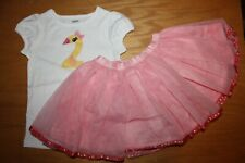 "NWT Gymboree Birthday Shop 3T Set Yellow Duck ""2"" Shirt Top Pink Tutu Skirt"