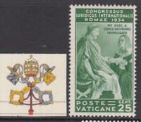 VATICANO 1935 Congresso Giuridico 25 cent. Sassone n.43 cv 85$ MH*