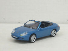 Porsche 911 Carrera Cabrio in blaumetallic, ohne OVP, Hongwell/Cararama, 1:43