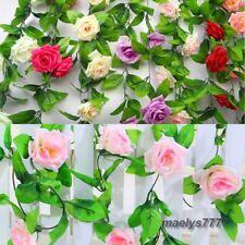 Guirlande de ROSE 8 cm fleur artificielle décoration maison cérémonie . 2,40M.