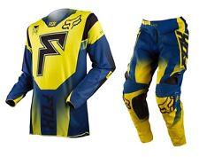 Taglia 34-XL Completo Maglia + Pantalone Fox 360 Franchise Giallo Mx Gear Cross