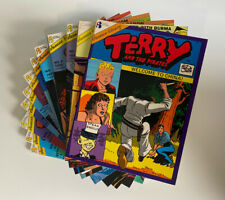 Lot of 12 Terry and the Pirates Books Set 1-17 Comic Strips 1938-1943 LIKE NEW