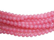 7mm Milky Pink Czech Glass Round Druk Beads (25) #1312